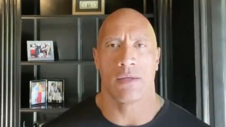The Rock calls for leadership following George Floyd's death.