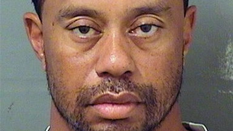 JUPITER, FL - MAY 29: (EDITORS NOTE: Best quality available) In this handout photo provided by The Palm Beach County Sheriff's Office, golfer Tiger Woods is seen in a police booking photo after his arrest on suspicion of driving under the influence (DUI) May 29, 2017 in Jupiter, Florida. Woods has been released on his own recognizance. (Photo by The Palm Beach County Sheriff's Office via Getty Images)