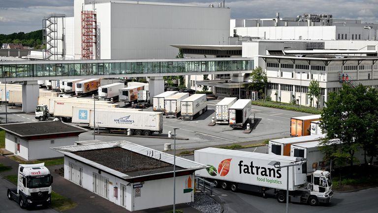 Toennies factory in Rheda-Wiedenbrueck, Rheda Wiedenbrueck, Germany. Pic: Sascha Steinbach/EPA-EFE/Shutterstock