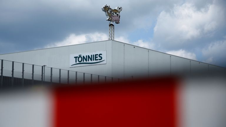 The Toennies meat factory that had to be shut down because of a coronavirus outbreak among employees