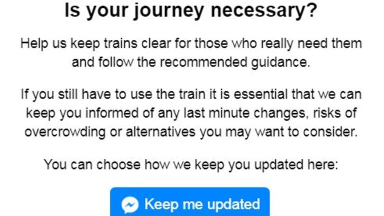 Train passengers can get alerts about overcrowded trains ahead of their journey