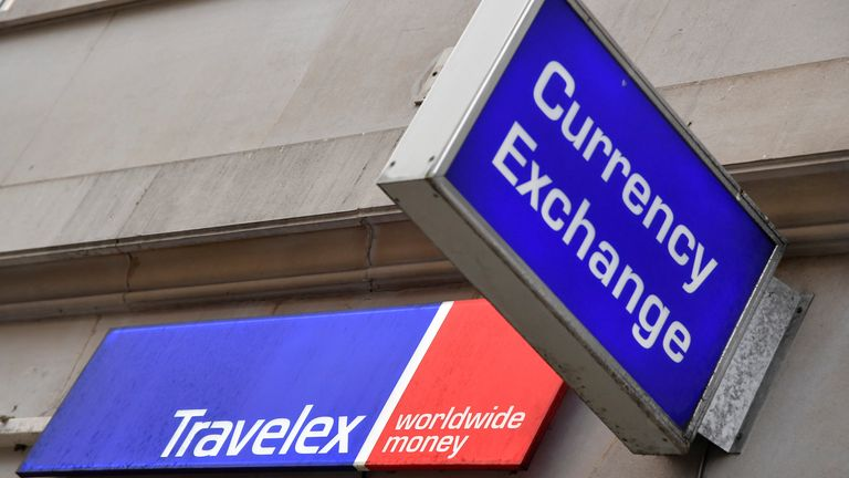 Branch of Travelex Currency Exchange in London
