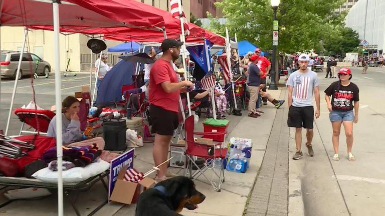 Trump supporters, Tulsa, Oklahoma