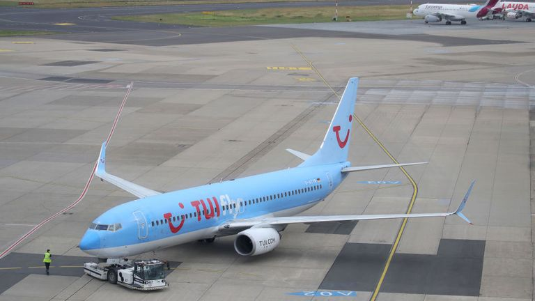 The TUI flight was flying from Dusseldorf to Mallorca