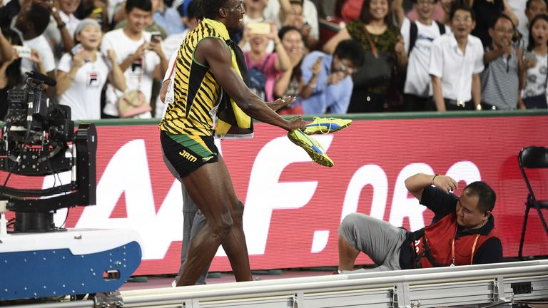 Usain Bolt was hit by a cameraman on a Segway