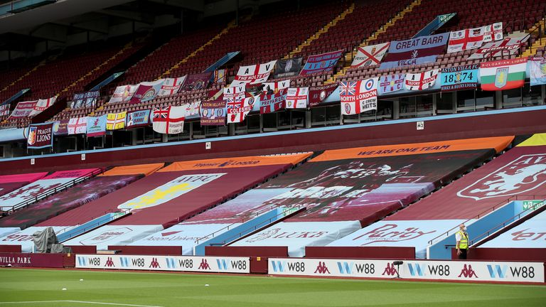 The Premier League returned in an empty Villa Park on Wednesday