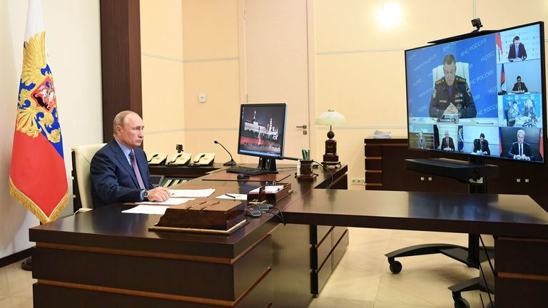 The Russian President lambasted local officials over the spill