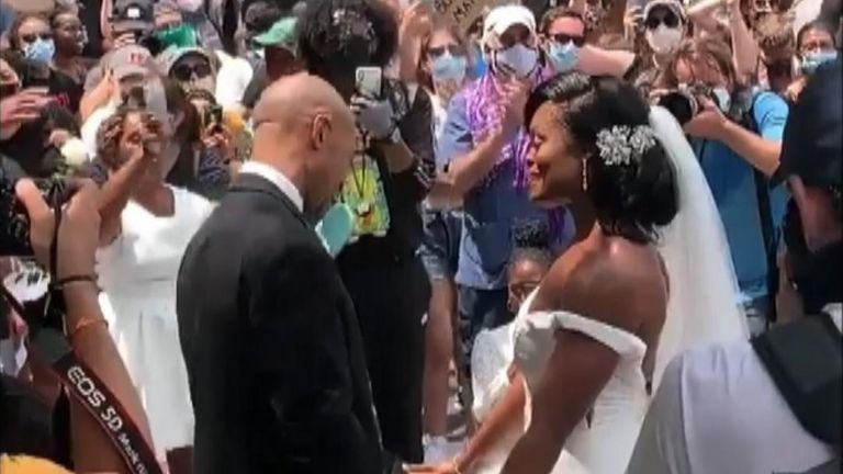 Wedding at BLM protest in Philadelphia