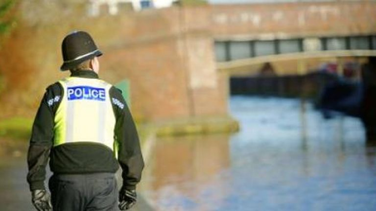 West Midlands Police say a 26-year-old cyclist was pushed off her bike and into a canal in Birmingham on Friday. Pic: West Midlands Police
