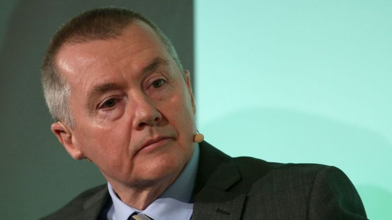 International Airlines Group (IAG) CEO Willie Walsh listens during a press conference in London