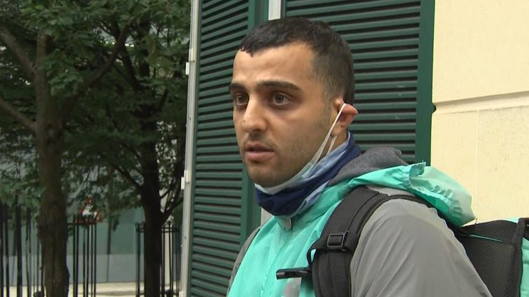 A man who witnessed the arrest of the Reading terror suspect spoke to Sky News about what he saw.