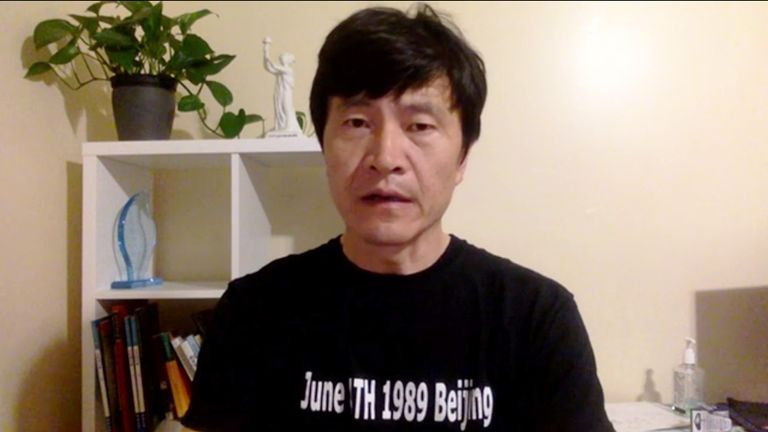 Zhou Fenfsuo was a student leader in Tiananmen Square in 1989