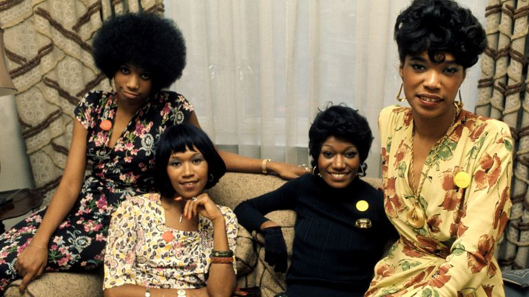 The Pointer Sisters in 1974 (L-R) Anita, Ruth, Bonnie and June Pointer