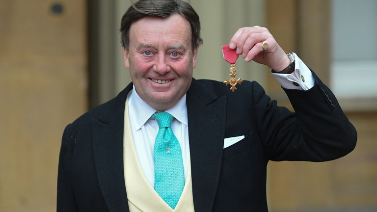 Nicky Henderson after receiving his OBE in March 2020