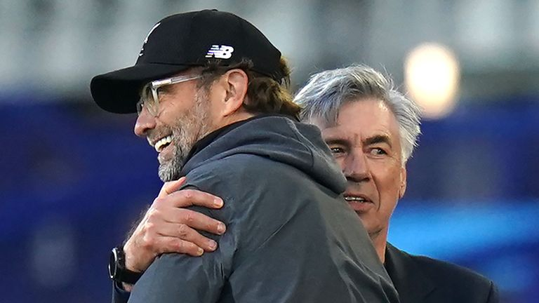 Carlo Ancelotti says Jurgen Klopp is the architect of a 'perfect machine' after Liverpool secured their first Premier League title