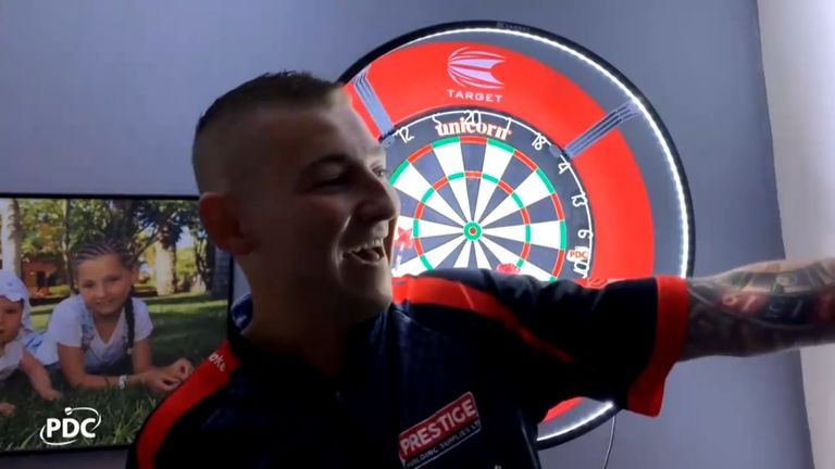 Aspinall said he'd be celebrating in his hot tub after being crowned PDC Home Tour champion