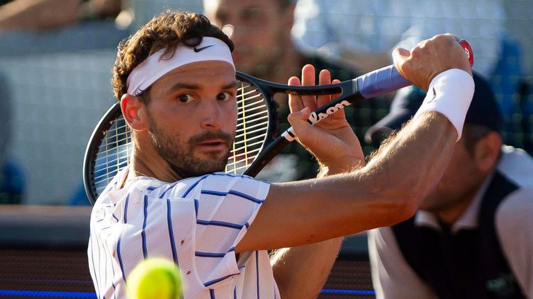 Grigor Dimitrov tested positive for coronavirus a day after playing in the Adria Tour
