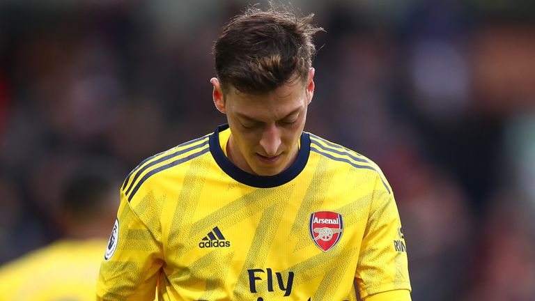 Former Arsenal midfielder Paul Merson described Ozil's exclusion from their Premier League squad as a 'big gamble' and called the situation 'sad' for both the club and player