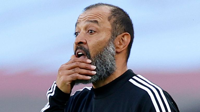 Nuno on Wolves' hopes of Champions League qualification this season