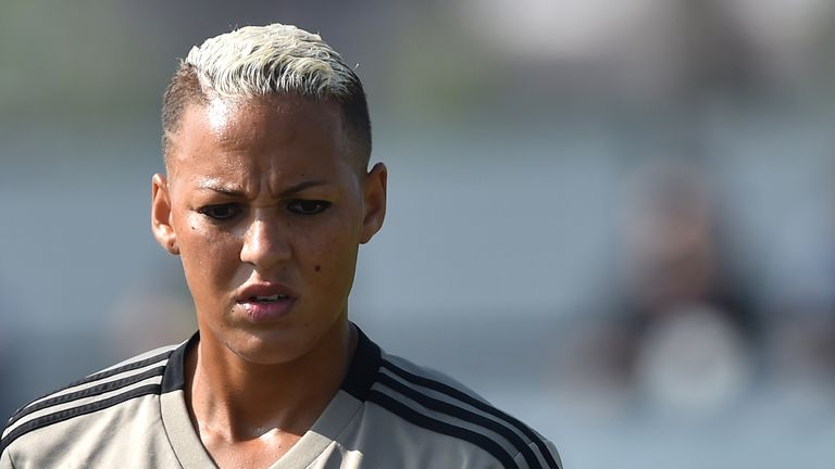 Lianne Sanderson says social media users don't realise how hurtful their abusive online comments can be as Sky Sports launch the #HateWontStopUs campaign