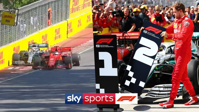 One year on, relive the astonishing events of the 2019 Canadian GP and all the fallout from Sebastian Vettel's race-losing penalty for a near-miss with Lewis Hamilton