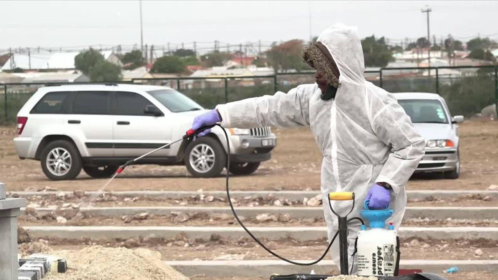 COVID-19: South Africa's health system 'buckling' | World News - Sky News