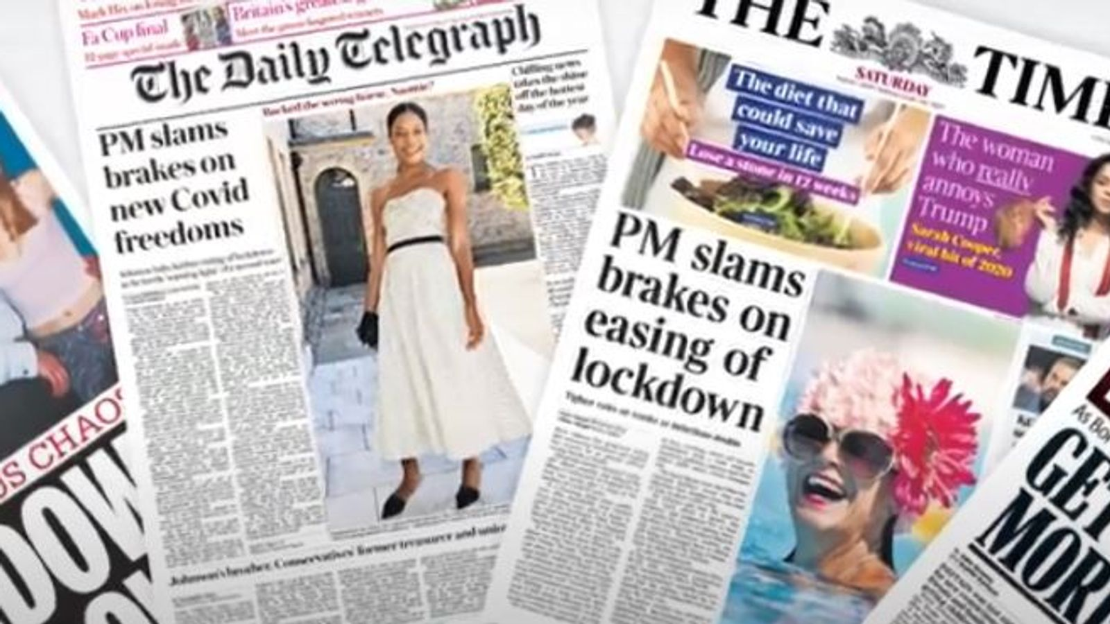 Saturday's national newspaper front pages thumbnail