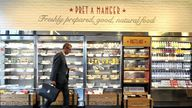 A man shops in a Pret A Manger store in Melcombe Street in central London. Filipino fast food group Jollibee Foods Corp is reportedly eyeing a potential takeover of the British sandwich chain that could value the UK company at more than one billion dollars (738 million).