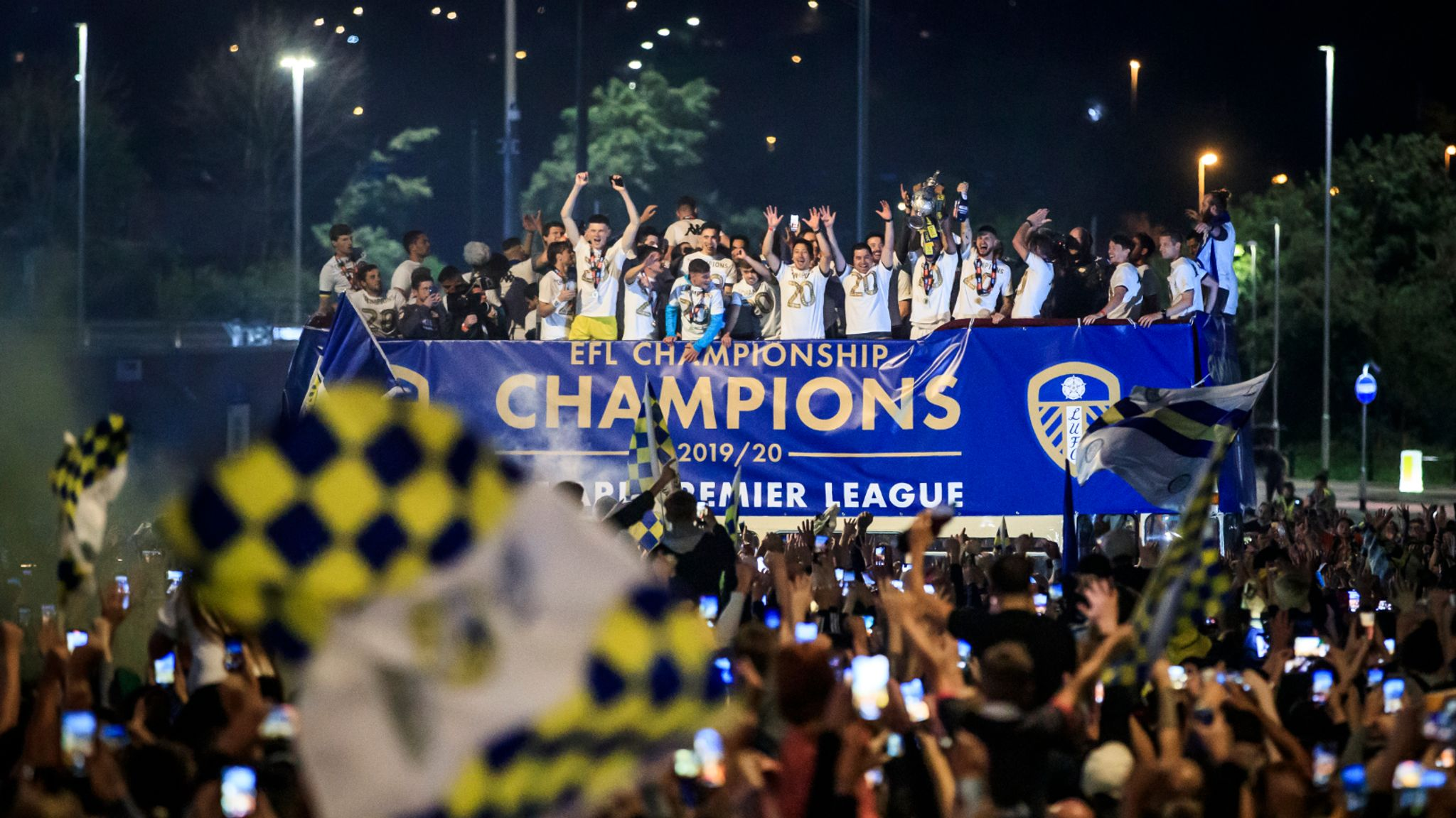 Leeds United were criticized for holding a bus parade