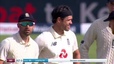 Anderson gets his third as Chase goes LBW