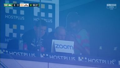 Is that Snoop Dogg in the coaches box?
