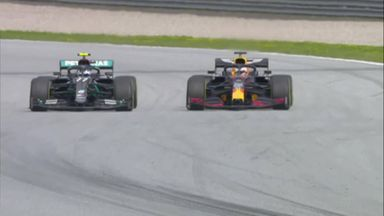 Bottas-Verstappen go wheel to wheel!