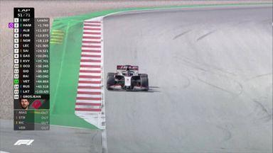 Grosjean retires with brake issues