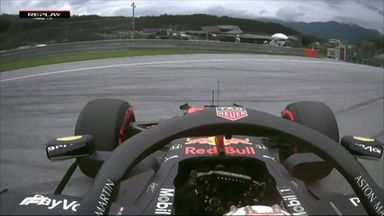 Verstappen spins on track