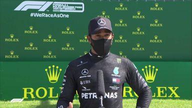 Bottas pips Hamilton to pole