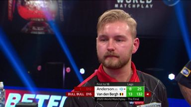 Van den Bergh's 132 checkout on the bull!