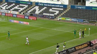 Brewster gives Swansea the lead