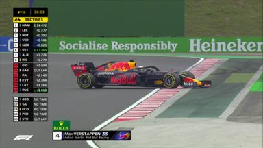 Verstappen spins out