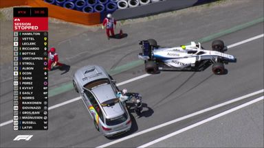 Latifi crashes out in P3
