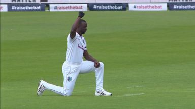 England, West Indies take a knee