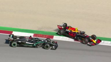 Hamilton's collision with Albon
