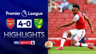 Arsenal crush Norwich after Auba double