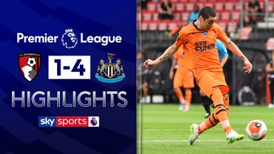 Newcastle hit four past Bournemouth
