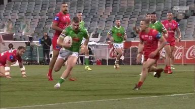 Williams scores first NRL try