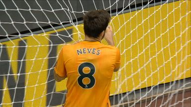 Neves clears off the line (87)