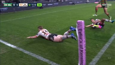 Hoffman celebrates debut with a try