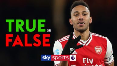 True or false with Aubameyang