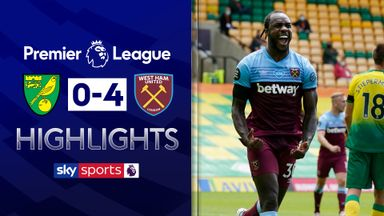 Norwich relegated as Antonio hits four