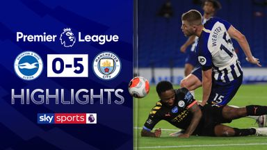 Sterling scores three as City hammer Brighton
