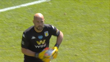 Benteke denied by Reina (41)